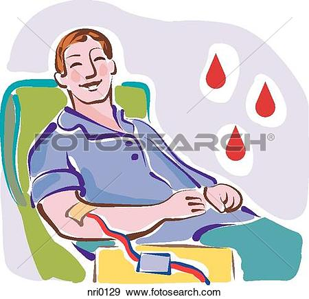 Drawing of A woman donating blood kle0203.