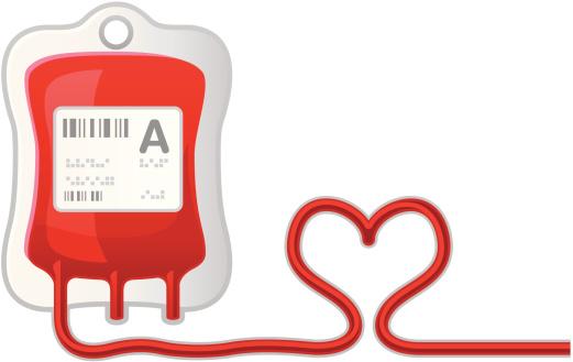 Blood donation bag clipart.