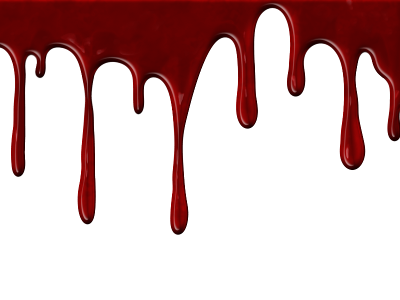 Realistic Dripping Blood PNG With Transparent Background (Paint.