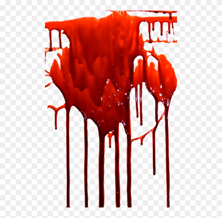 Transparent Dripping Blood Background.