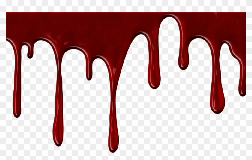 Realistic Dripping Blood Png With Transparent Background.