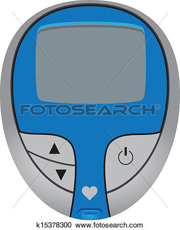 Clipart of Blood Glucose Meter k15378300.