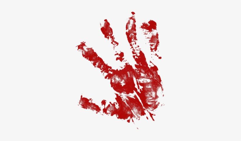 Bloody Handprint Png Download.