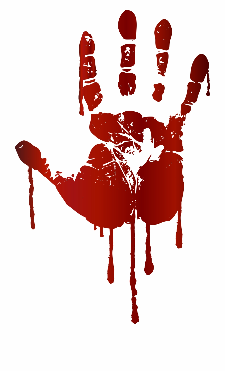 Blood Hand Print , Png Download.