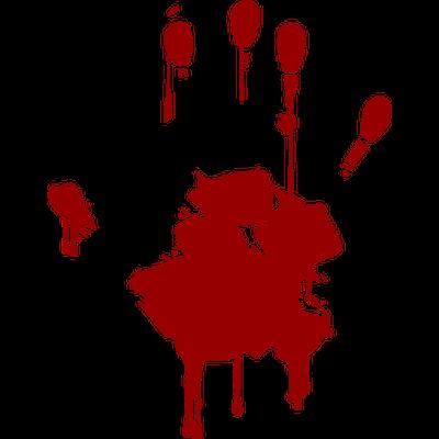 Blood Hand transparent PNG.