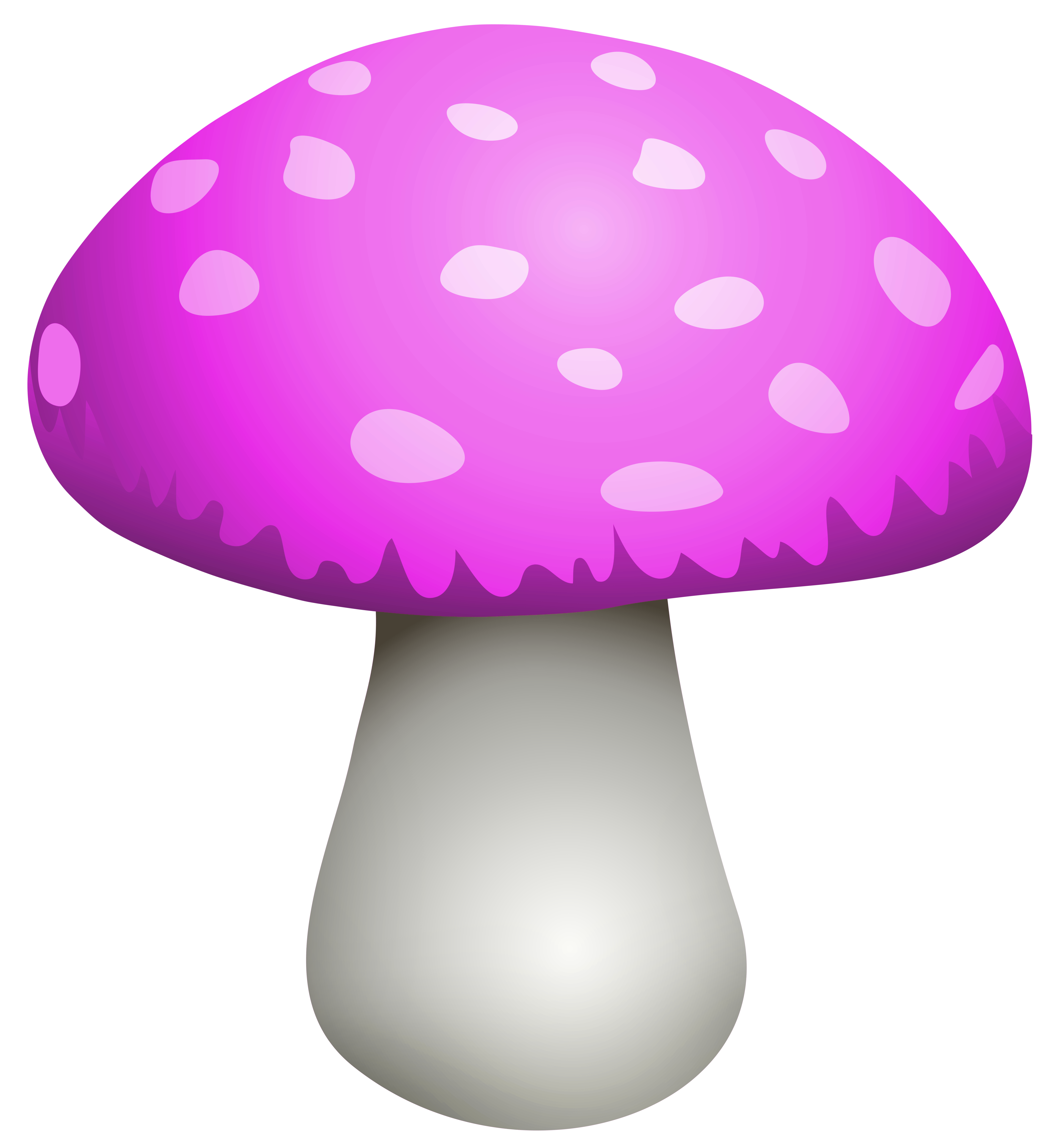 Pink Mushroom PNG Clipart.