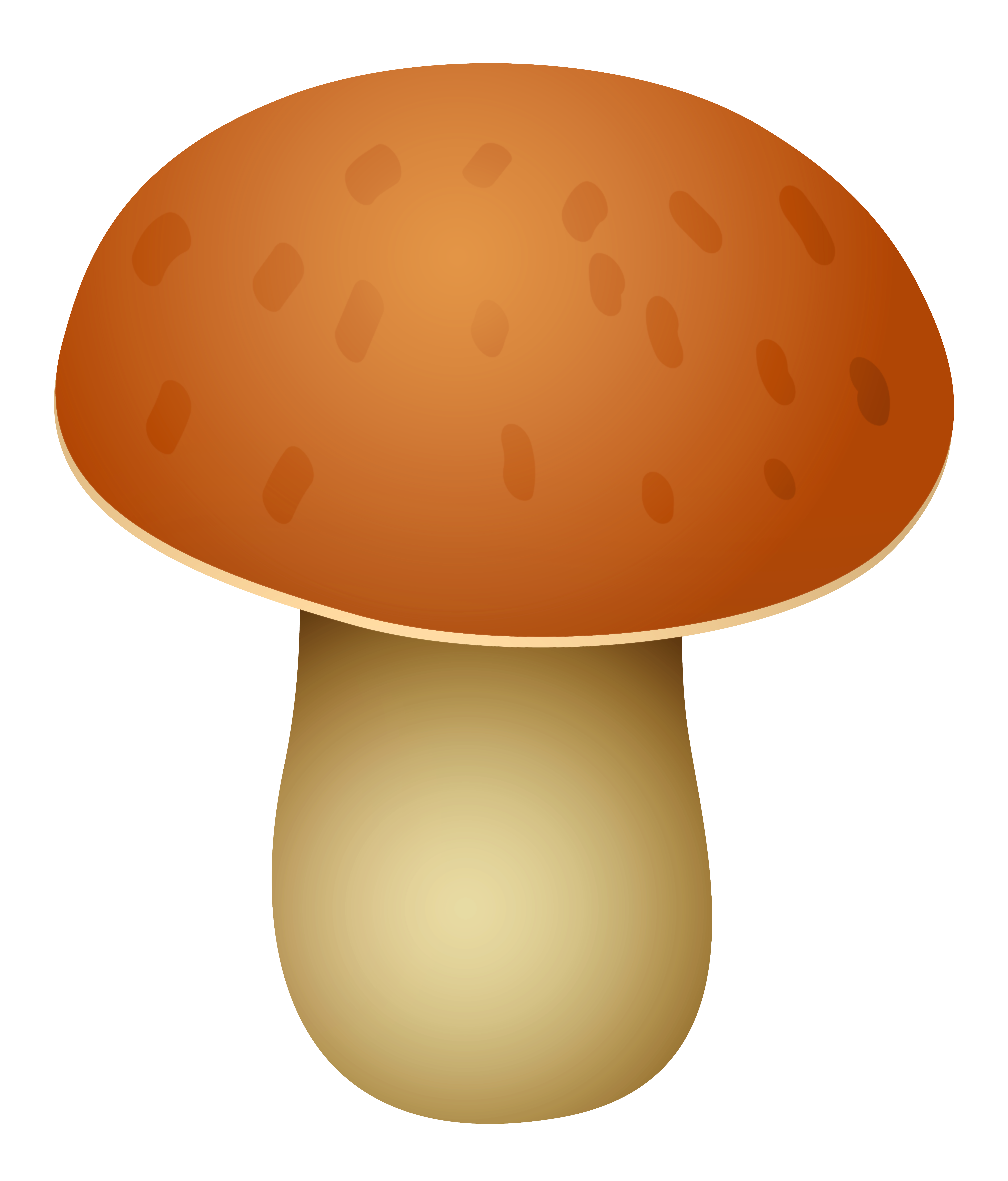 Brown Spotted Mushroom PNG Clipart.