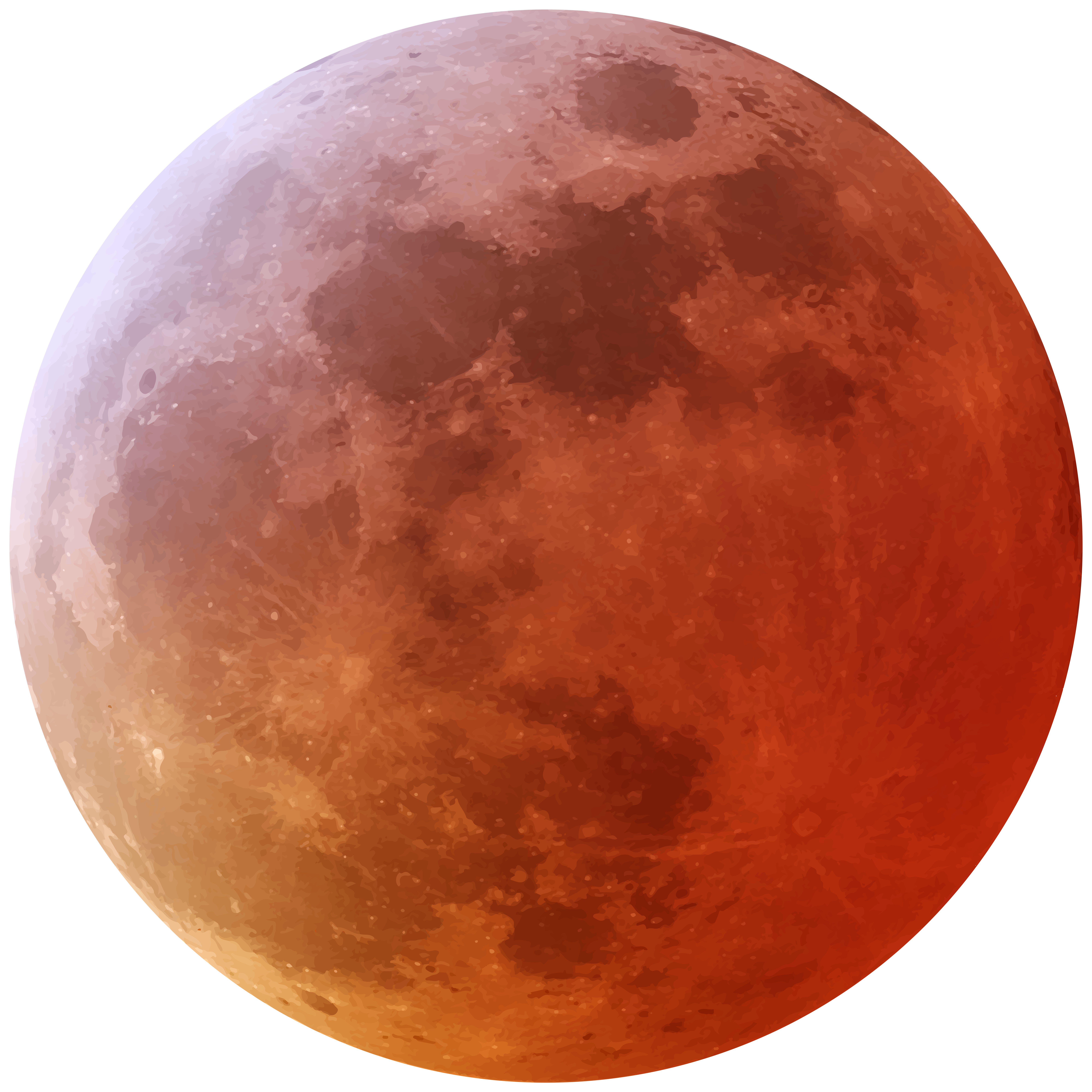 Red Moon PNG Clip Art Image.