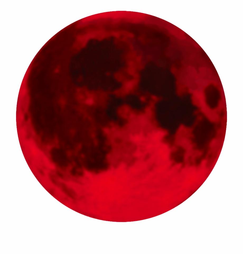 Full Moon Transparent Background Blood.