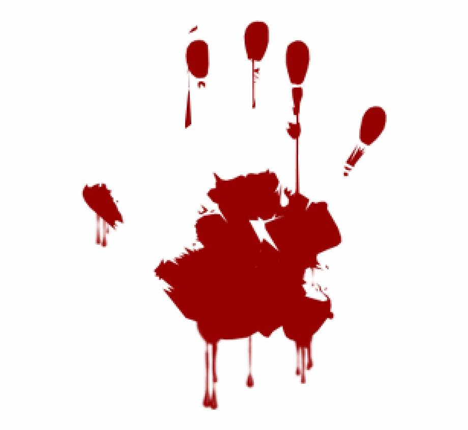 Hand Mark Blood Free Png Download.