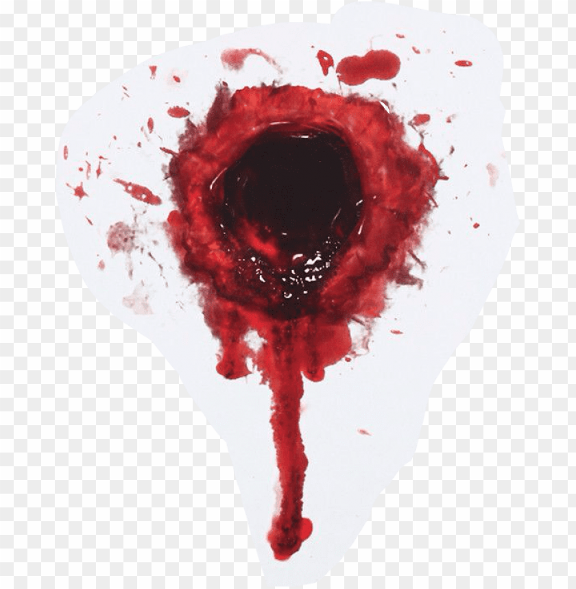 bullet hole with blood PNG image with transparent background.
