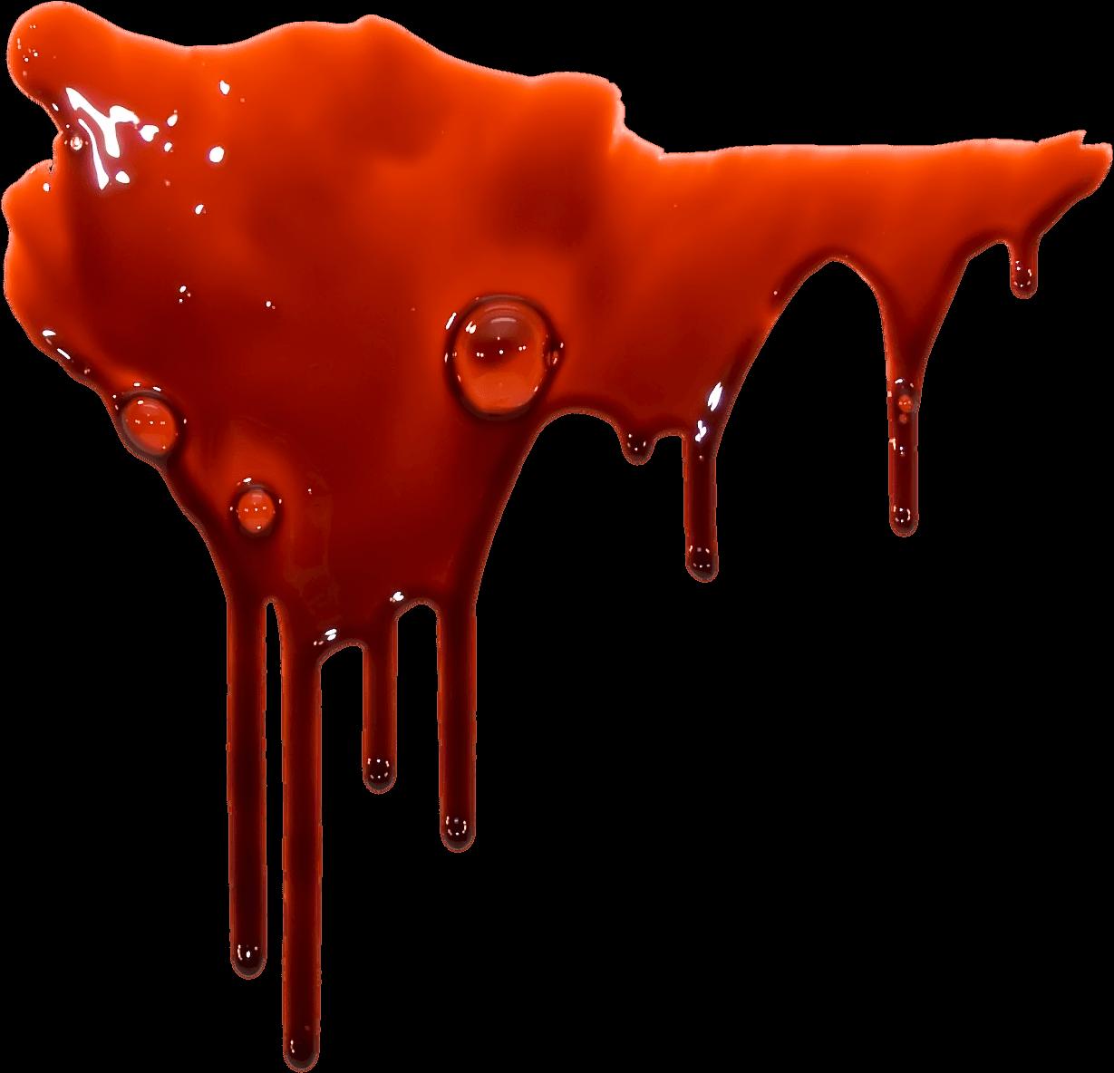 Blood Header transparent PNG.
