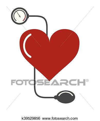 Blood pressure cuff icon Clip Art.