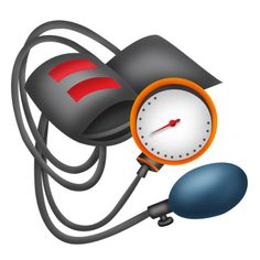 Blood pressure gauge medical equipment clipart.