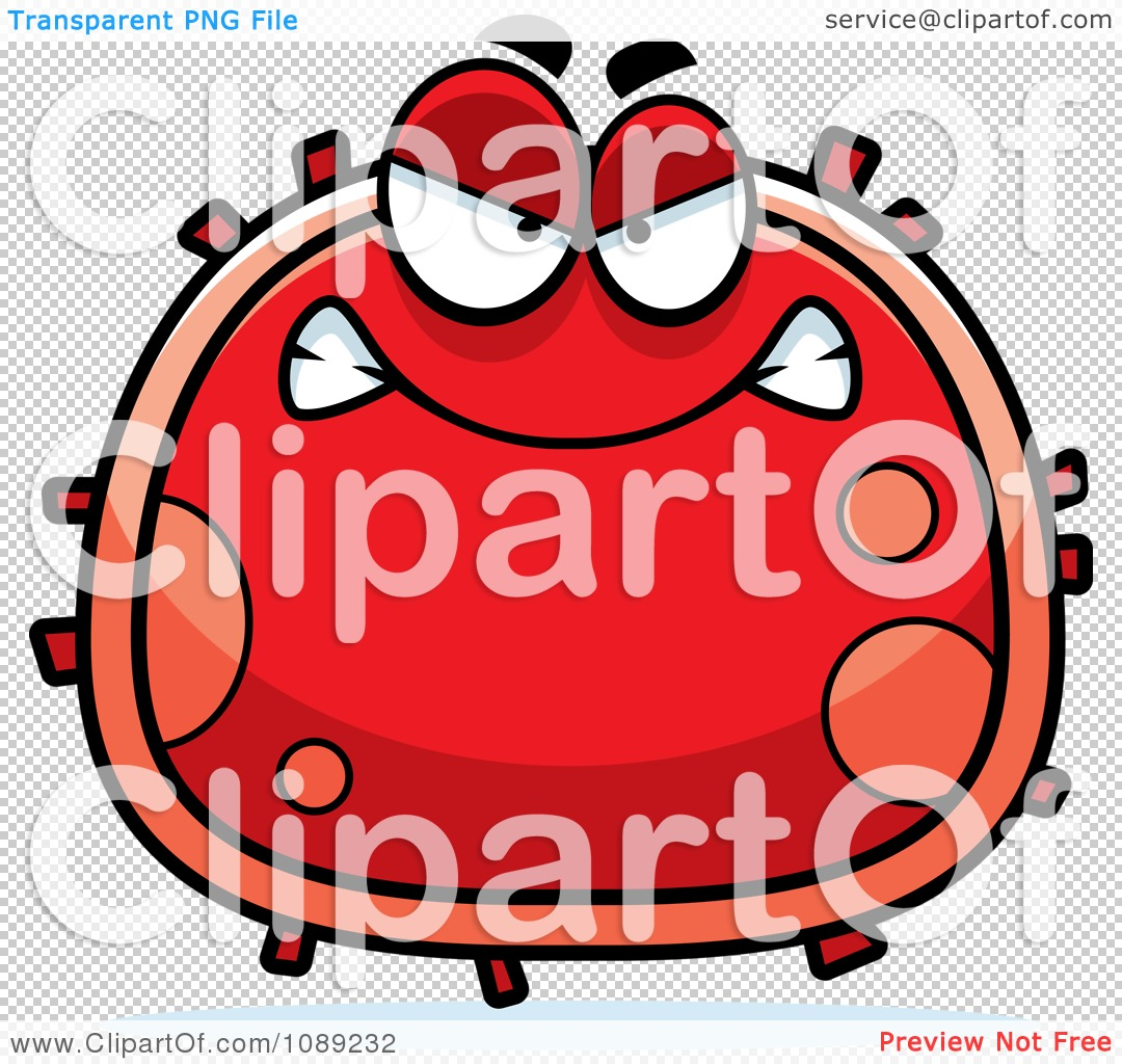 Clipart Mad Red Blood Cell.