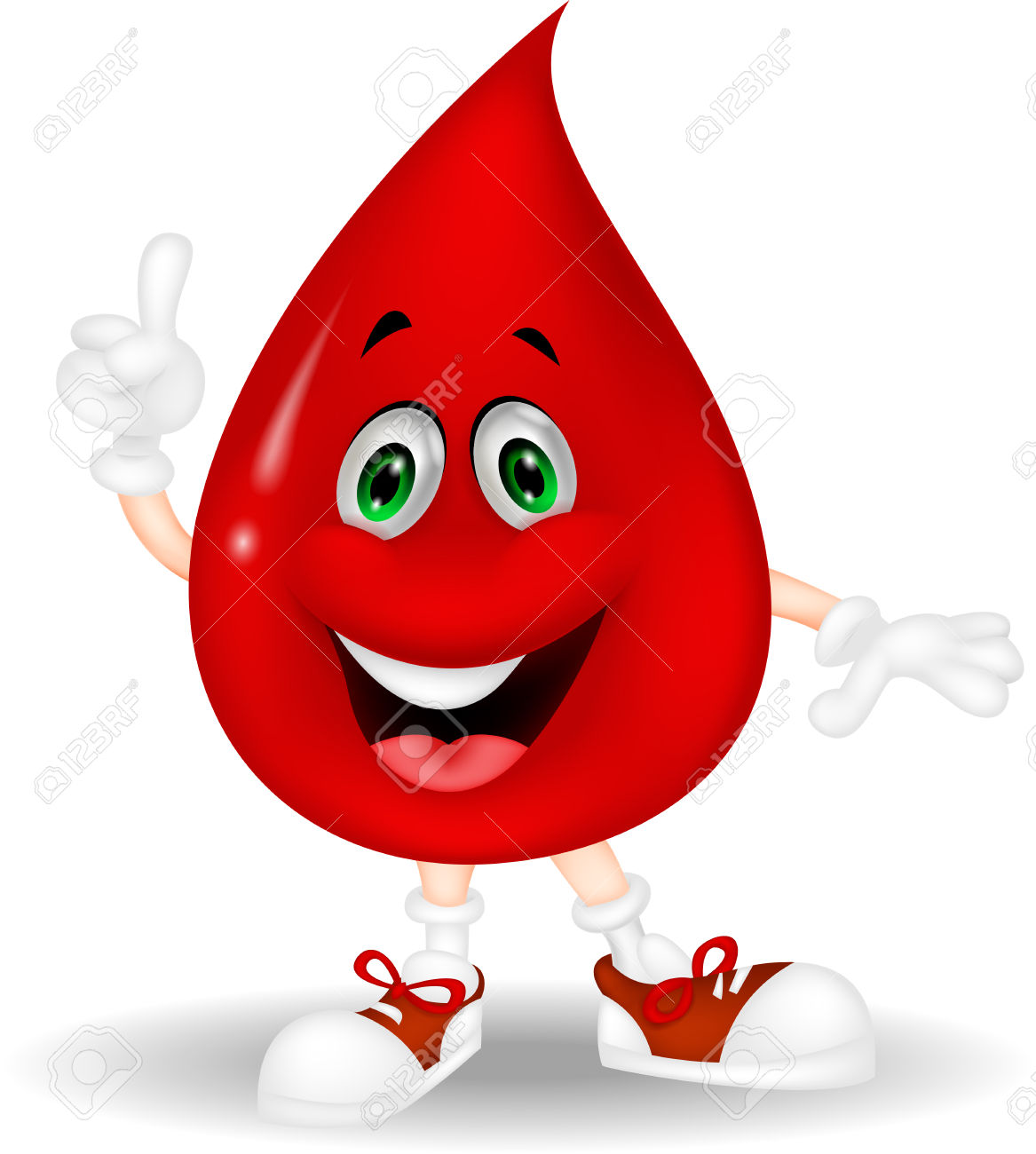 Red blood cells clipart.