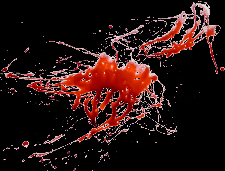 Blood Large Splatter transparent PNG.