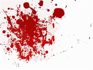 Blood Scarlet Red Splash PNG, SVG Clip art for Web.
