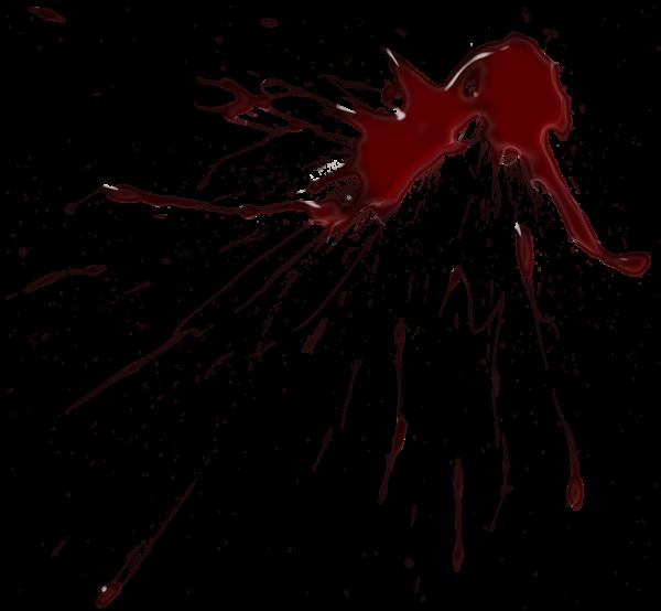Blood Splatter PNG Clipart Image.