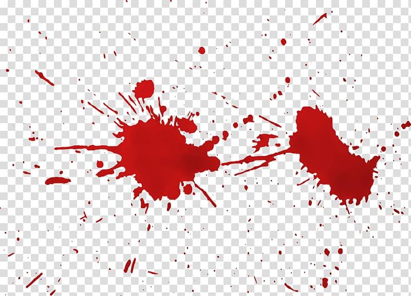 Blood splat , Ab ovo Blood, Spray the blood transparent background.
