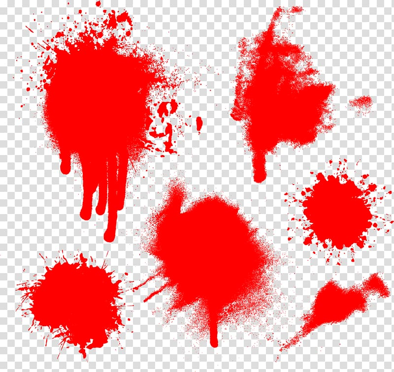 Blood Euclidean Vecteur, Spray the blood transparent background PNG.