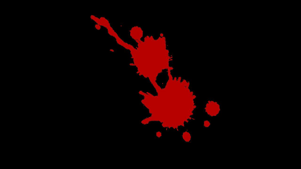 Blood Spray Crime Murder PNG.