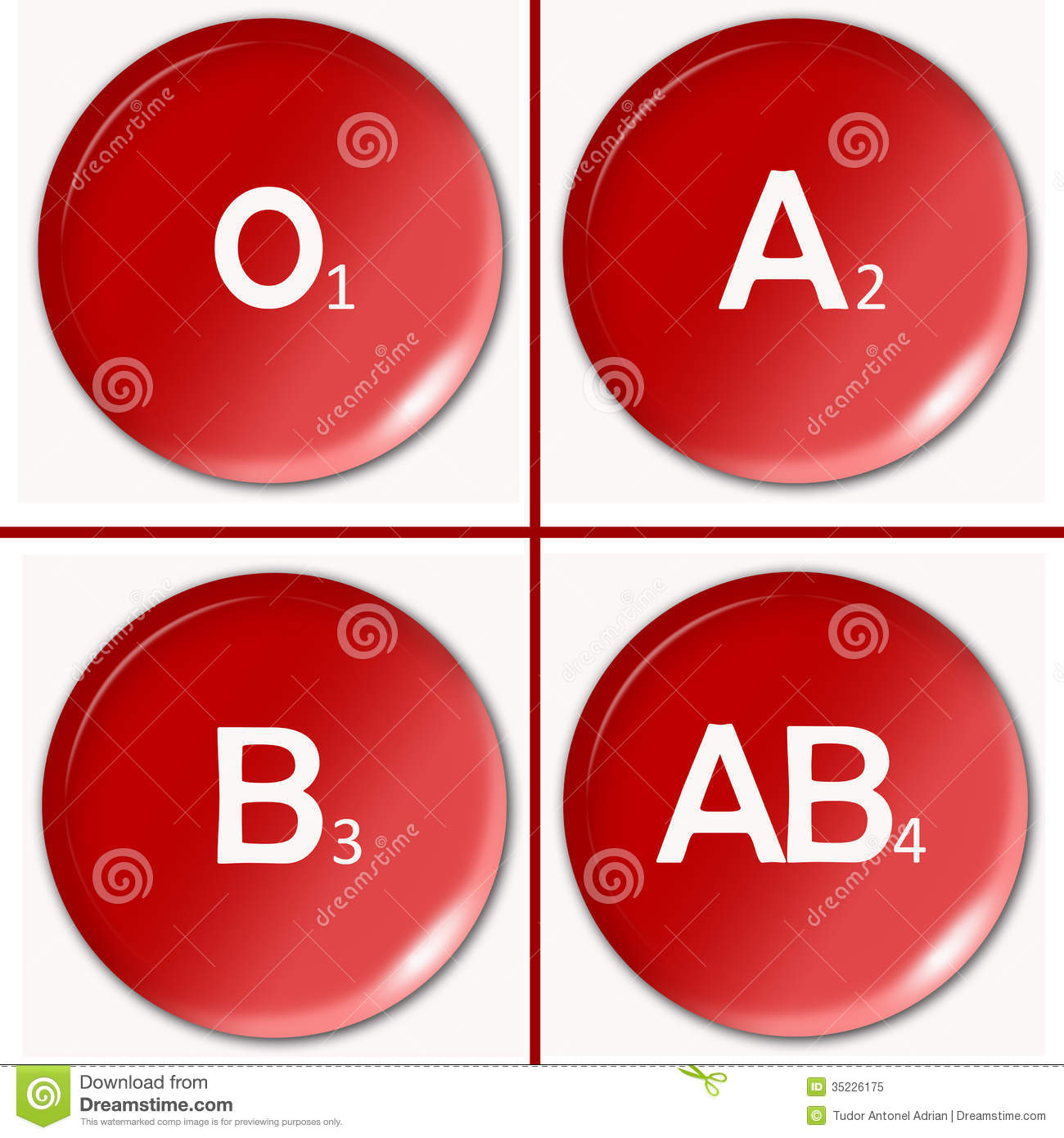 Blood Type Royalty Free Stock Photo.