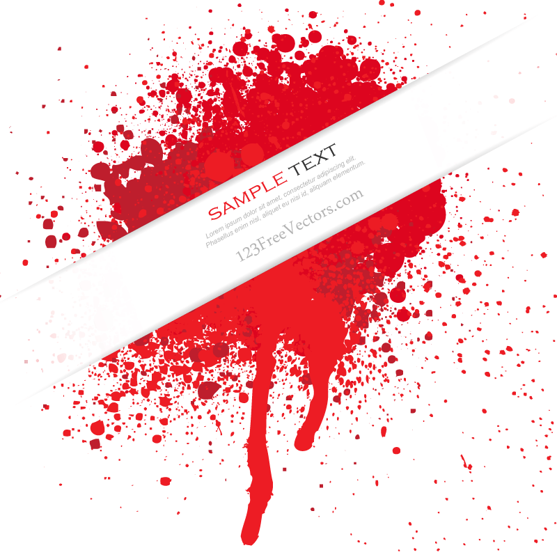 Blood Splatter Vector Free Download.