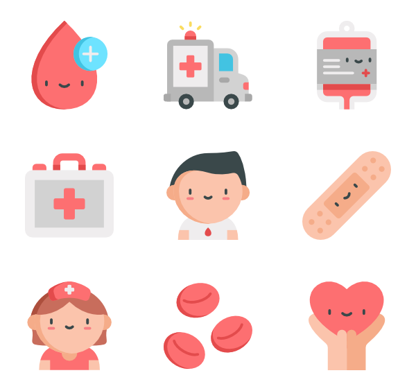 Blood drop Icons.