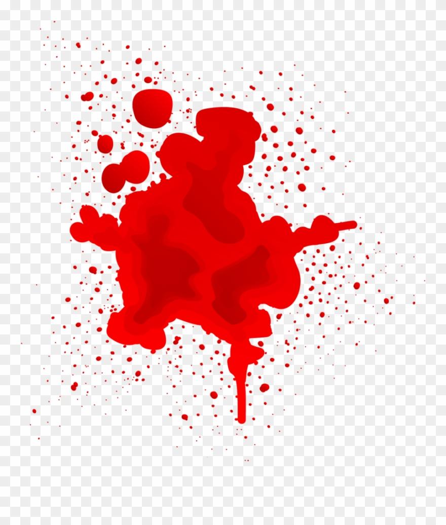 Halloween Vector Free Png Blood Splash Clipart (#2878953).