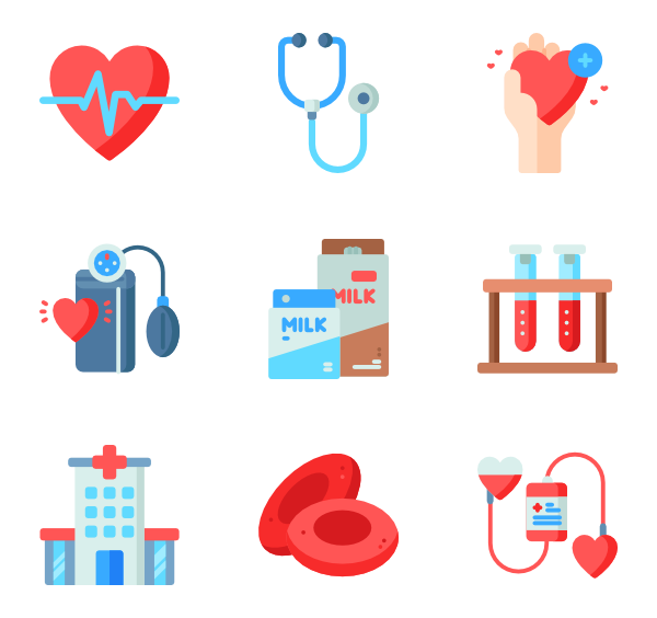 Blood bag Icons.