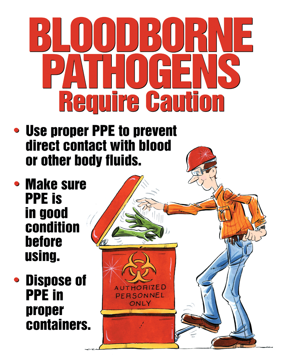 blood borne pathogens The exposure control plan provides information and safe work practices to those employees who have contact with human blood and opim.