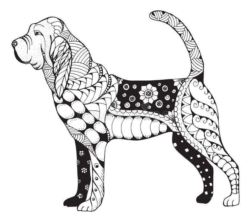 Bloodhound Stock Illustrations.
