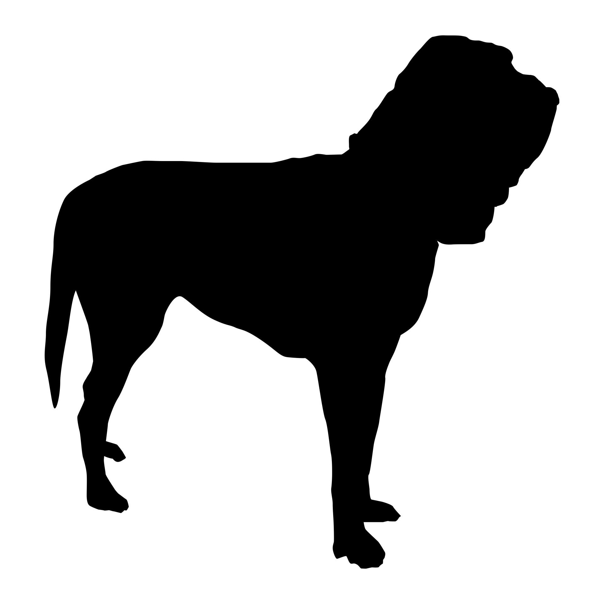 Bloodhound,coursing,sleuth,black,illustration.