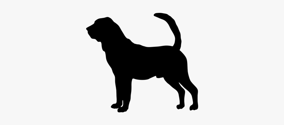 Bloodhound Clipart Dog Silhouette.