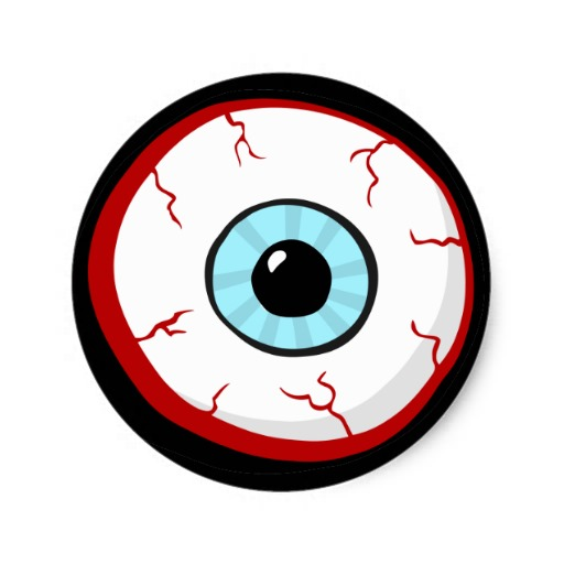 Bloodshot Eye Ball Funny Cartoon Stickers #JehYGW.