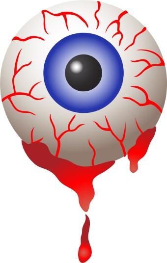 HALLOWEEN BLOODSHOT EYEBALL , CLIP ART.