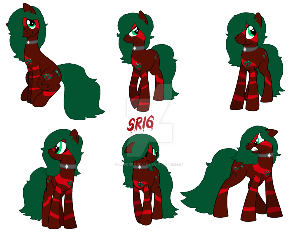Bloodstone's reference sheet by SuperRosey16 on DeviantArt.