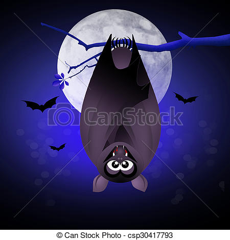 Stock Illustration of bat bloodsucker.