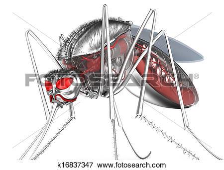 Stock Illustration of Mosquito. Robot bloodsucker k16837347.
