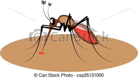 Vector Clipart of Blood sucking Insect csp35131000.