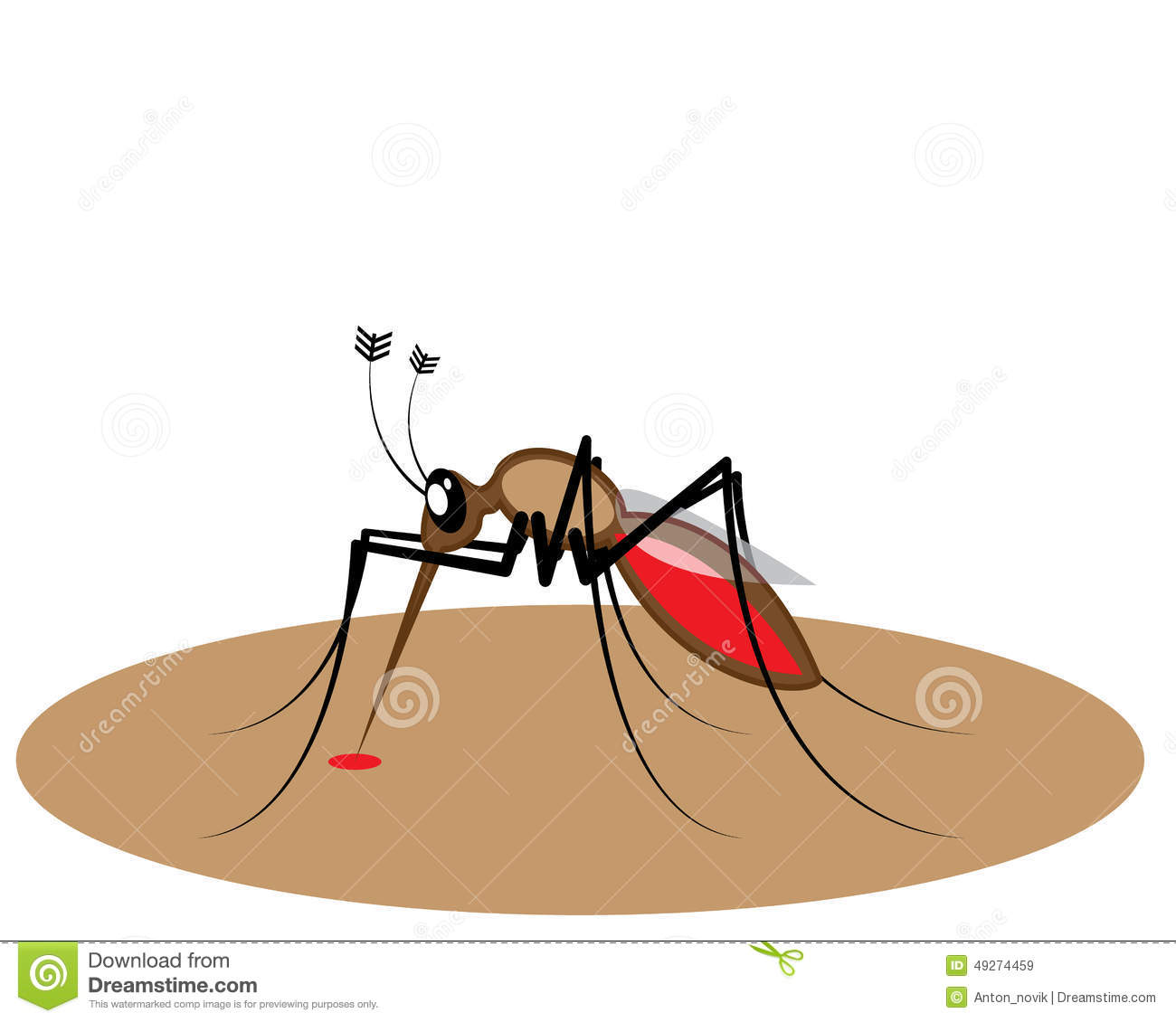 Blood Sucking Insect Stock Vector.