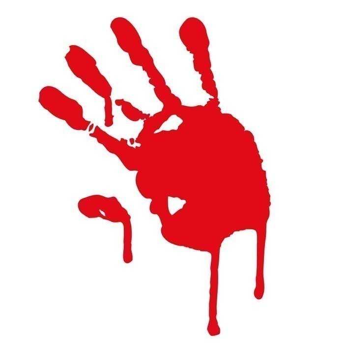 Blood Splatter Hand Clipart.