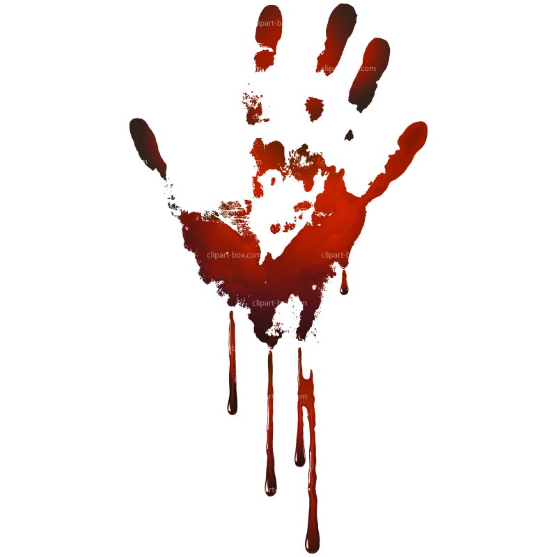 CLIPART BLOODY HAND PRINT.