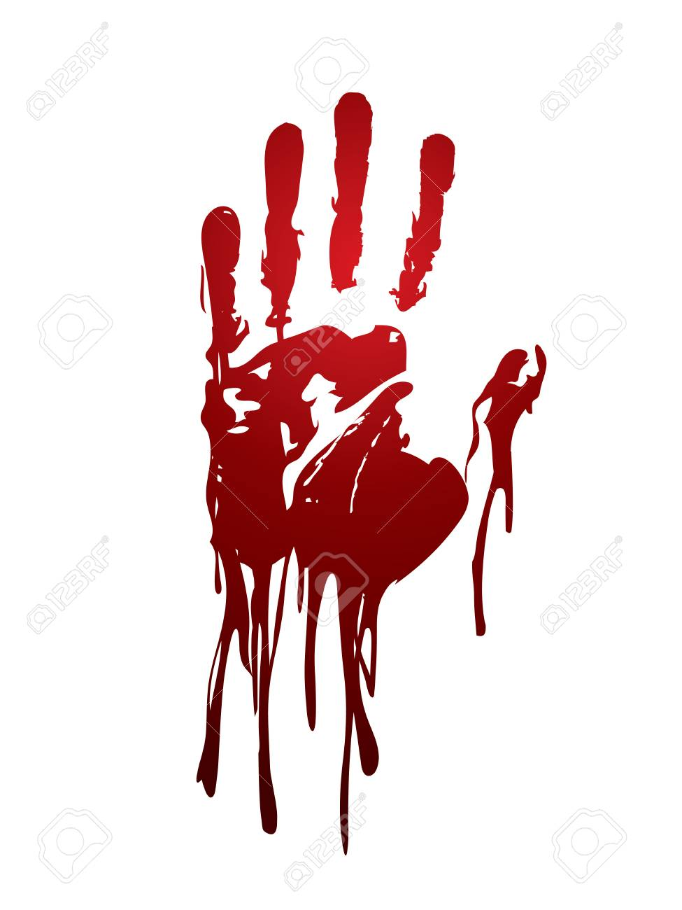 Bloody hand graphic vector..