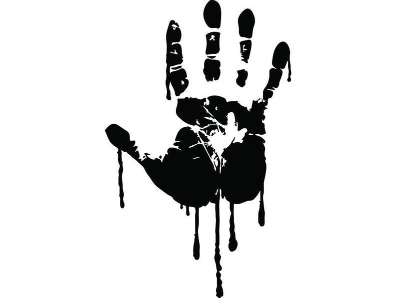 Blood #4 Bloody Hand Print Murder Paint Water Beverage Stain Drip Horror  Design Element Logo.SVG .EPS .PNG Clipart Vector Cricut Cut Cutting.