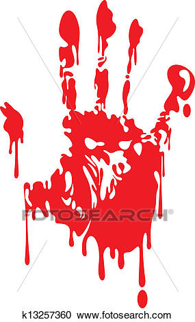Bloody hand Clipart.