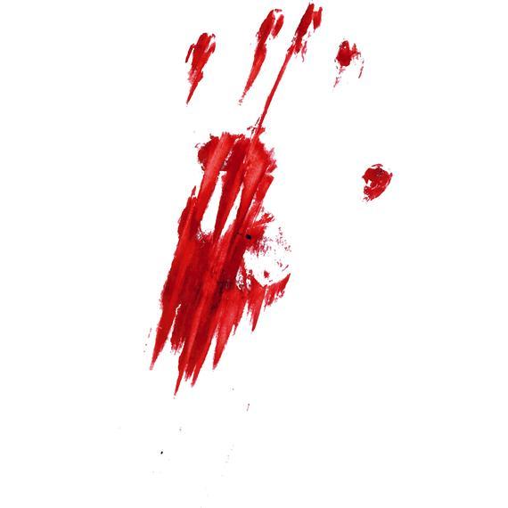 Bloody, Handprint, Hand, Finger, Fingerprint, Thumb, Print, Blood,  Silhouette,SVG,Graphics,Illustration,Vector,Logo,Digital,Clipart.