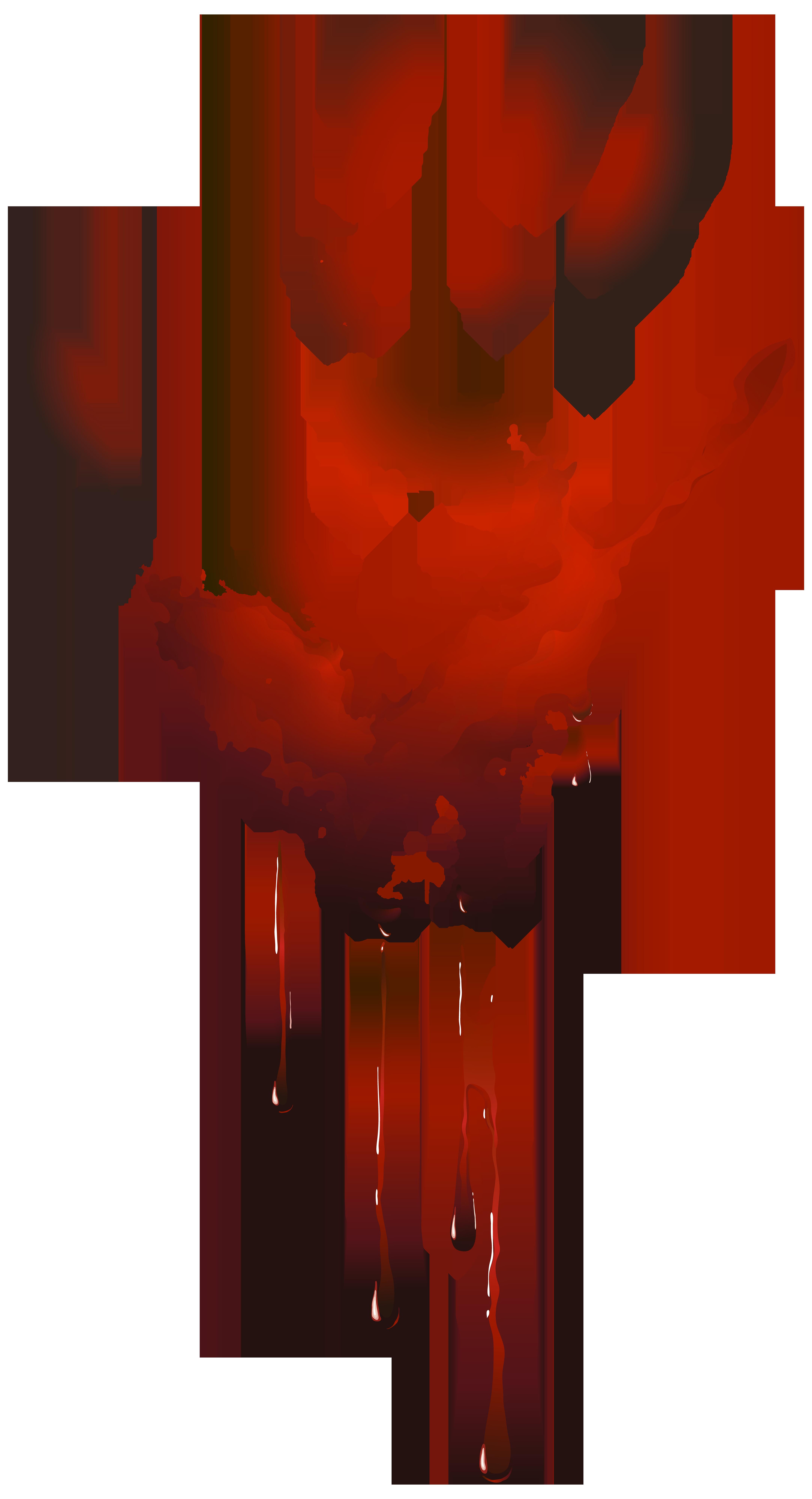 Bloody Handprint PNG Clip Art Image.