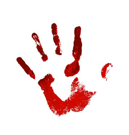 369 Bloody Hand Print Stock Vector Illustration And Royalty Free.